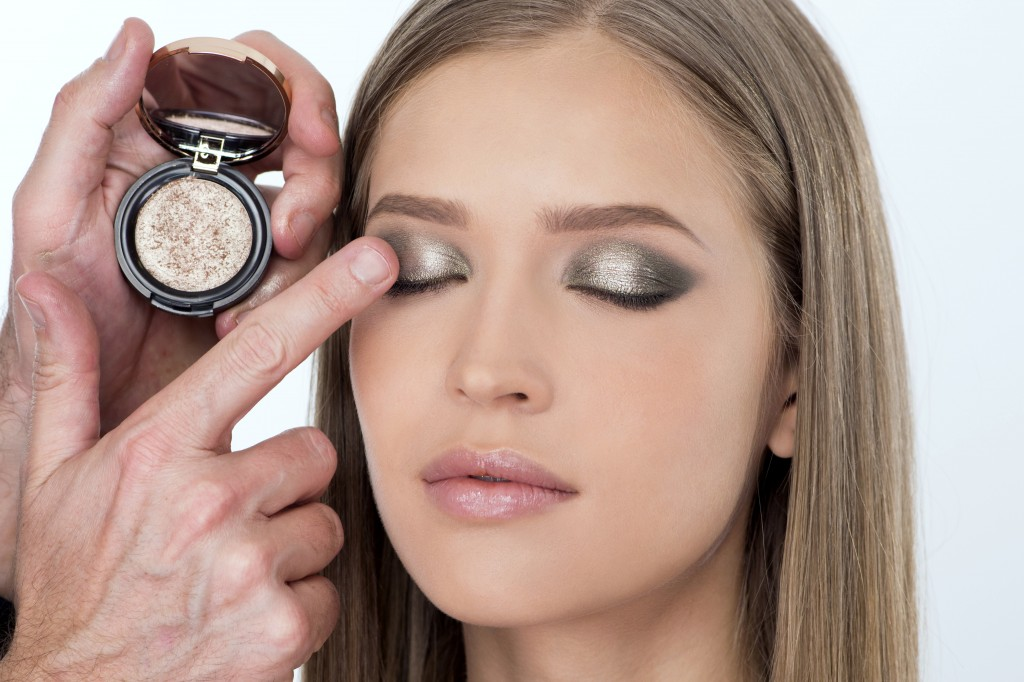 make up occhi con savanna 3d golden eyeshadow