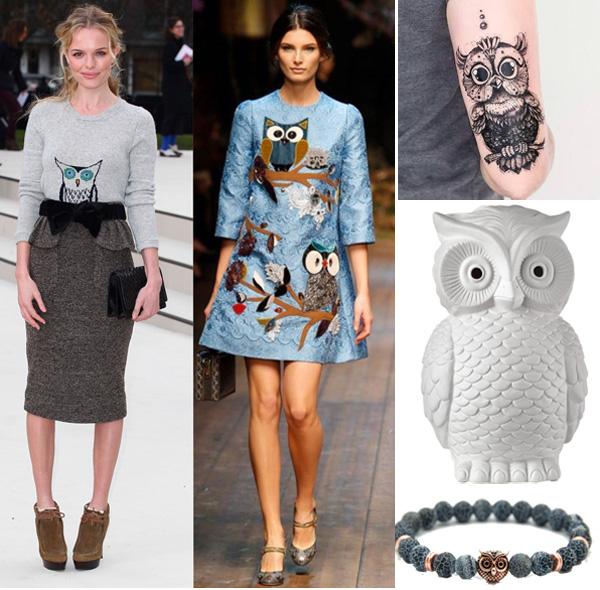 il gufo: moda, design e tatuaggi