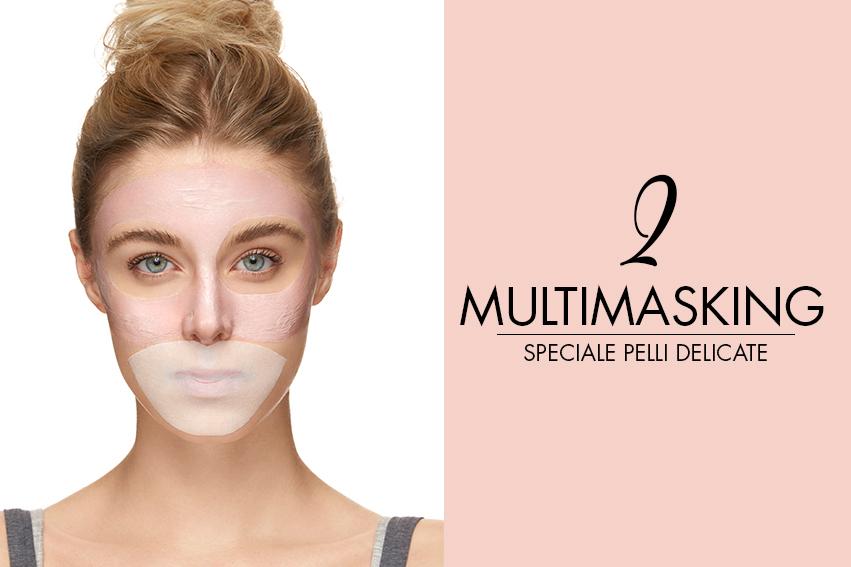 scopri il multimasking per pelli delicate e sensibili