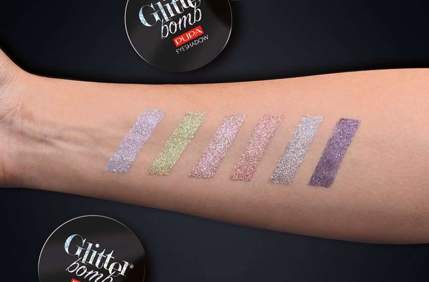 swatches glitter bomb