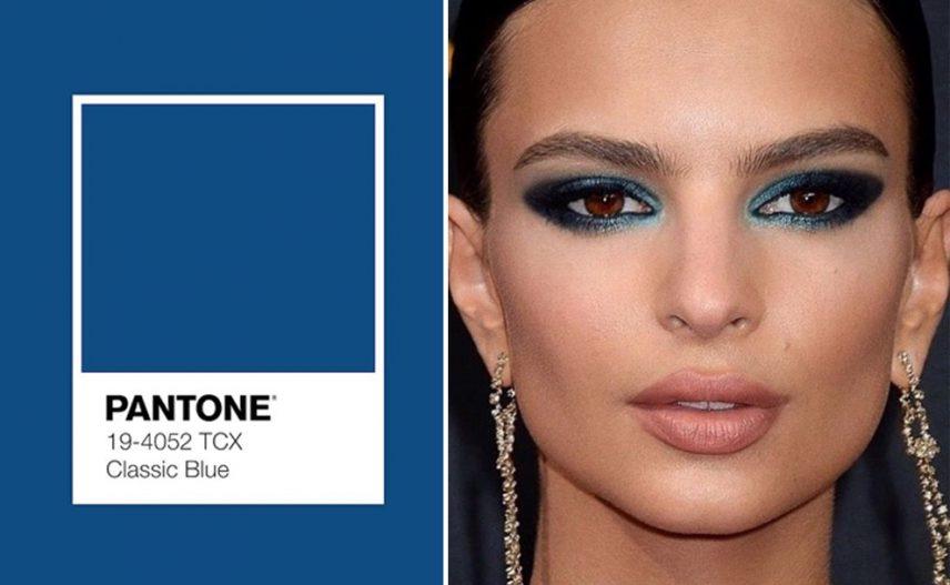 classic blue make up