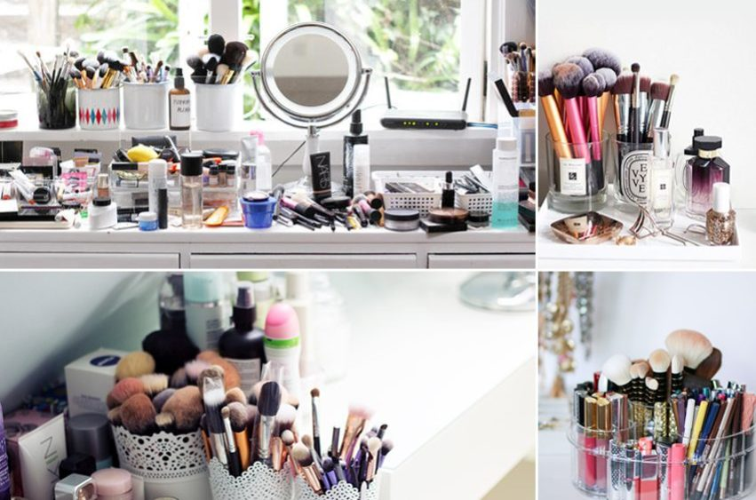 accessori per il make up ordinati
